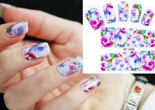 Nail Art Water Transfers Decals Stickers Decorations Floral Pattern XF1388