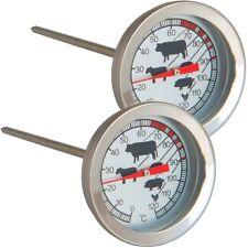 2x Analoges Fleisch- & Braten-Thermometer Fleischthermometer Einstichthermometer