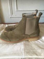 Belstaff Ladbroke Dark Sisal Chelsea Boots Size 9 Men