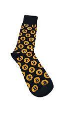Bitcoin Socks BTC  Black and Orange/Yellow
