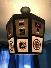 Rare NHL Boston Bruins Scoreboard ceiling light fixture (15x15x12 inches)