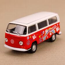 1972 T2 VOLKSWAGEN VW Hippy Van Microbus Kombi Combi Peace Love Yellow Die-cast