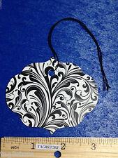 100 Lot Elegant Ornate Large Black & White Merchandise Price Tags String Retail