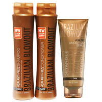 Brazilian Blowout Anti-Frizz Shampoo/Conditioner 12 Ounce & Smoothing Serum 8oz
