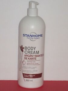 STANHOME DERMA CARE ARGAN & SHEA BUTTER MOISTURIZING FACE/BODY CREAM 950 ml.NEW!