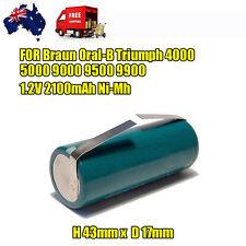Battery for Braun ORAL-B Triumph Smart Toothbrush 3761 3762 1.2V 2100mAh Ni-MH