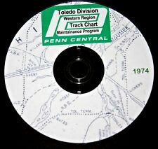 Penn Central 1974 Western Region Toledo Division Track Chart PDF Pages on DVD