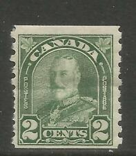 Canada 1930-31 King George V 2c dull green coil (180) MH