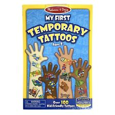 Temporary Tattoos Kids Boys MELISSA & DOUG My First Over 100 Tattoos Ages 3+