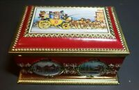 Vintage West Germany Biscuit Tin Klann Treasure Box Stagecoach Horse & Carriage