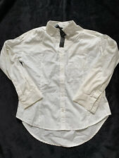 NWT Attention Cream Button Front Shirt S Relax Fit