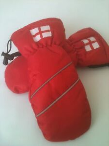 JUNIOR WINTER GOLF MITTENS. SCOTLAND / ENGLAND CRESTED. ROYAL BLUE. SMALL SIZING