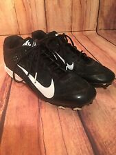 Nike Vapor Strike Football low top Cleats Shoes Black White Mens Size 11 Used i6