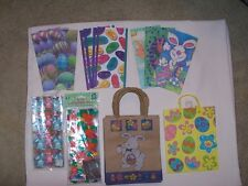 LOT OF NEW EASTER GIFT/CANDY/GOODY BAGS - ASSORTED 63 piece Paper and Cellophane