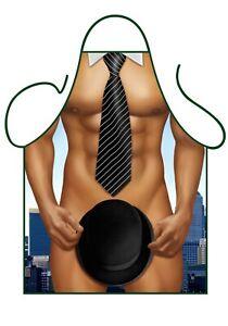 Businessman, City Gent novelty apron with bowler hat. Secret Santa Gift.