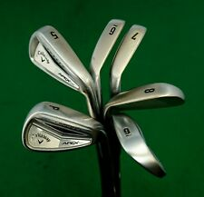 Set of 6 x Callaway Apex Pro Forged Irons 5-PW Extra Stiff Steel Shafts.