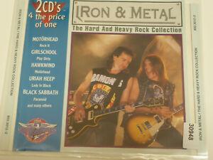 VARIOUS : Iron & Metal - Hard & Heavy Coll CASTLE  > VG+ (2CD)
