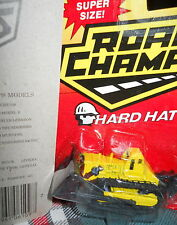 HARD HATS* tractor/moving parts* Diecast Car-mint on card -ROAD CHAMPS*