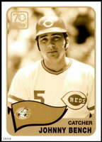 Johnny Bench 2021 Topps 5x7 70 Years of Topps Baseball Gold #70YT-15 /10 Reds