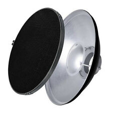 "55cm/22""  Bowens Flash Strobe Sliver Beauty Dish + Honeycomb Grid +Soft Diffuser"