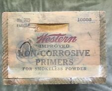 Vintage ~ Crate ~ Western ~ Primers ~ For Smokeless Powder