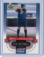 RARE 2002 UPPER DECK NINA LINDENBERG SOFTBALL CARD #11 ~ USA TEAM ~ FRESNO STATE