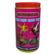 Indian Hello Pet's Freeze Dried Blood Worms Fish Food, Pet Food, Fish Meal,(55g)