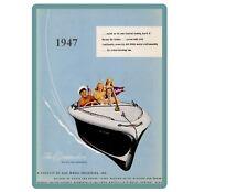 1947 Gar Wood Boat  Refrigerator / Tool Box Magnet