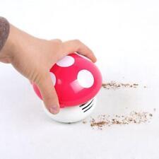 Cute mini champiñón mesa de escritorio Aspiradora de polvo Sweeper Rosa