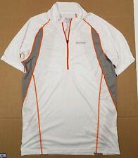 Marmot Men's 1/4 Zip Base Layer Shirt Size M White Gray Orange