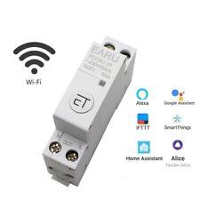 WiFi Circuit Breaker 1P+N Din Rail Timer Switch Relay Remote Control Smart Kit