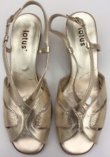 Lotus Italy Uk5 Eu38 Gold Slingback Peep Toe Strappy Sandals Evening Party Wear