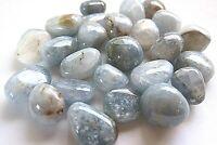 *ONE* Celestite Tumbled Stone 25-30mm Healing Crystal Angels Cleanse Aura Gemini