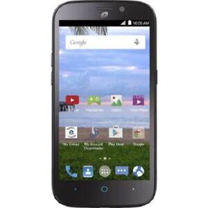 +ZTE Z818l Allstar LTE Prepaid Straight Talk Smartphone Black NOS