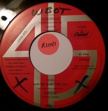 """45rpm 7"""" Vinyl Record, Duran Duran Winter Marches On, Notorious Capitol Records"""