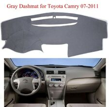 Dashboard Cover Dashmat Sunshade Carpet For 2007-2011 Toyota Camry NonSlip Grey