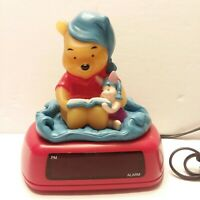 Disney Winnie The Pooh Piglet Reading Digital Alarm Clock Night Light Bedtime