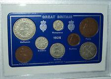 1928 Go GREAT BRITAIN BRITISH Vintage Coin Set (89th Anniversaire Cadeau de naissance Année)