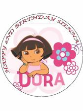 7.5 DORA EXPLORER EDIBLE ICING BIRTHDAY CAKE TOPPER