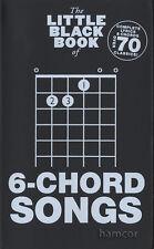El pequeño libro negro de 6-Canciones De Acordes Guitarra Chord Cancionero
