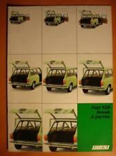 Catalogue publicitaire Fiat 128 break 3 portes 1976