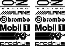 12 Black Car Door Stack  Sponsor Logo Stickers,Graphics,Decals set 2