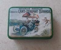 Ancienne boite métal tôle Anti Dérapant Durandal Sécurité Absolue vintage vtg