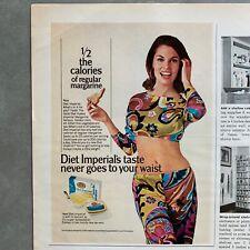 Vintage Diet Imperial Margarine Sexy Woman Photo Print Magazine Ad 1967