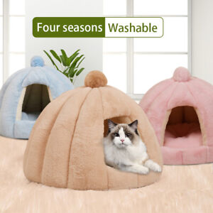 Pet Cat Dog House Kennel Puppy Sleeping Cave Bed Mat Pad Winter Warm Soft Nest