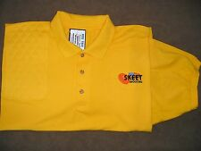 2XL RH Trap/Skeet Pad GOLD Cotton Pique POLO w/Skeet/Flag Embroidery