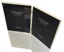 "Modern Plain Silver Plated Double Sided Photo Picture Frame 8x10"" Hinged Book"