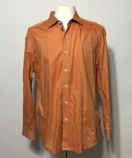 Robert Graham Orange XL Long Sleeve Dress Shirt 100% Cotton