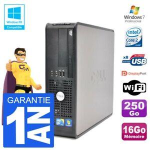 PC DELL 780 SFF Intel E7500 RAM 16Go Disk 250Go DVD Burner Wifi W7
