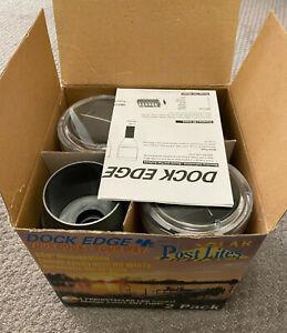Dock edge postlite solar LED post light 2 pack